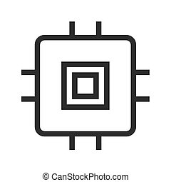 MicroChip - Chip, ic, circuit icon vector image Can also be...