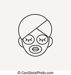 Facial mask line icon