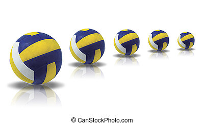 Ball - Illustration of a ball for volleyball on a white...