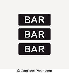 Bar shop sign icon