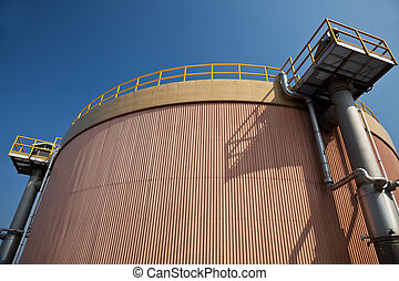Digestion tank in a sewage treatment plant - Digestion tank...
