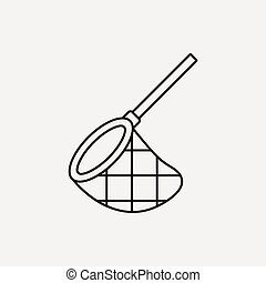 fishing net line icon
