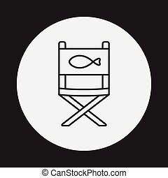 fishing chair line icon