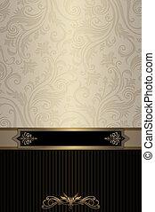 Vintage background with elegant patterns - Vintage...
