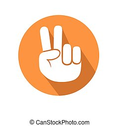 Victory sign - This is an illustration of victory sign