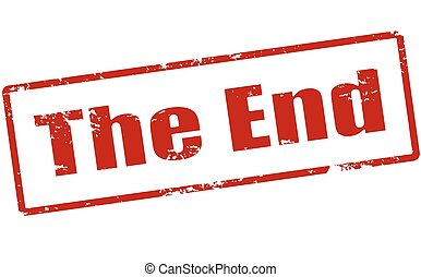 The end - Rubber stamp with text the end inside, vector...
