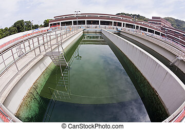 Water treatment plant - Sedimentation tank in a water...