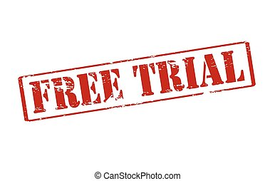 Free trial - Rubber stamp with text free trial inside,...