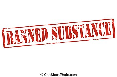 Banned substance - Rubber stamp with text banned substance...