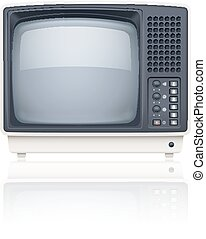 Old style retro tv set icon