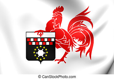 Flag of Charleroi, Belgium. - 3D Flag of the Charleroi,...