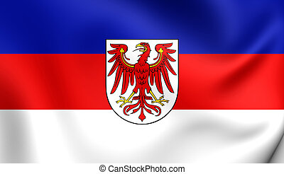 Flag of Lower Sorbian Language - 3D Flag of the Lower...