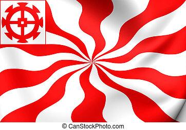 Flag of Mulhouse, France - 3D Flag of the Mulhouse, France...