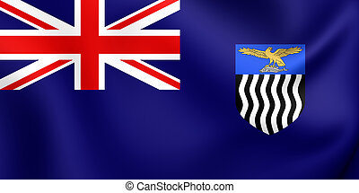 Flag of Northern Rhodesia - 3D Flag of the Northern...