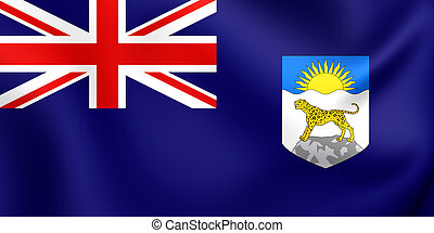 Flag of Nyasaland Protectorate 1919-1964 - 3D Flag of the...