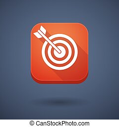 App button with a dart board - Illustration of an app button...