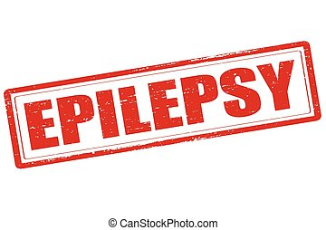 Epilepsy - Rubber stamp with word epilepsy inside, vector...
