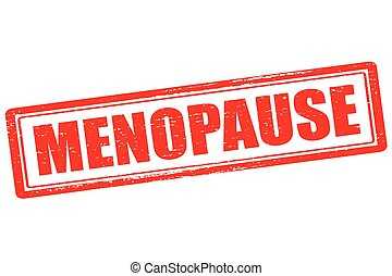 Menopause - Rubber stamp with word menopause inside, vector...