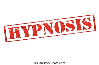 Hypnosis - Rubber stamp with word hypnosis inside, vector...