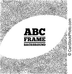 Frame created from the letters of different sizes - Frame...