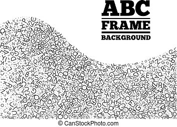 Frame created from the letters of different sizes It can be...