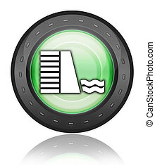 Icon, Button, Pictogram Dam - Icon, Button, Pictogram with...