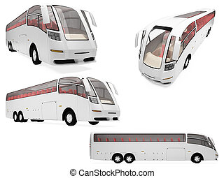 Collage of isolated concept bus - Isolated collection of...