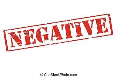 Negative - Rubber stamp with word negative inside, vector...