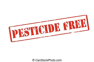 Pesticide free - Rubber stamp with text pesticide free...