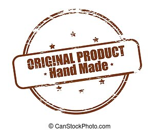 Original product hand made - Rubber stamp with text original...