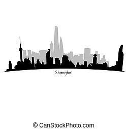 Shanghai vector Skyline