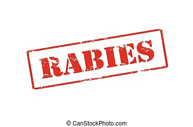 Rabies - Rubber stamp with word rabies inside, vector...
