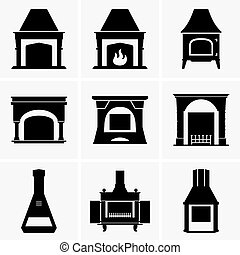 Fireplaces - Set of Fireplaces