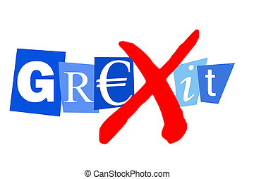 Grexit greek financial debt crisis may lead to greek euro...