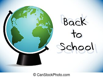 Postcard for Knowledge Day Back to school illustration -...