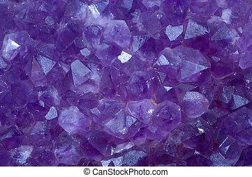 ametista, Cristal, pedra, detalhe