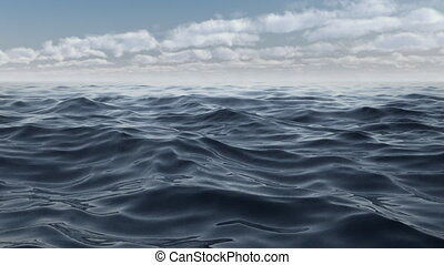 The waves of the blue sea animation in full hd