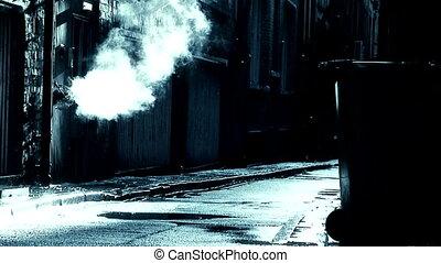 dirty deserted back alleyway 2