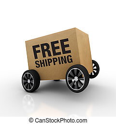 Free Shipping Wheel - Nice work to highlight the background...