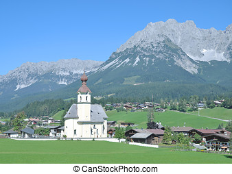 Going am Wilden Kaiser,Austria - Village of Going am Wilden...