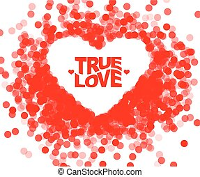 True love geometric color typography Poster Fun inspiring...