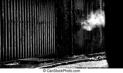 dirty deserted back alleyway slow motion6 - Steam coming...