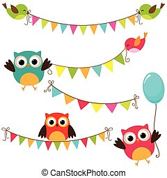 Vector Bunting - Vector set of colorful and bright bunting...