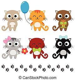 Cartoon kittens - Stylized set of cute cartoon kittens....
