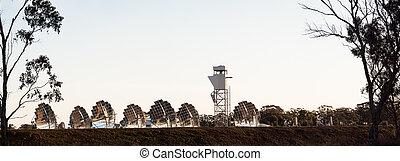 solar dish array - experimental solar electricity generation...