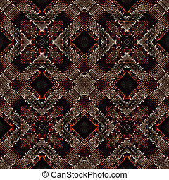 Modern Geometric Ornate Seamless Pattern - Digital art...