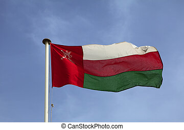 Omani national flag - The national flag of the Sultanate of...