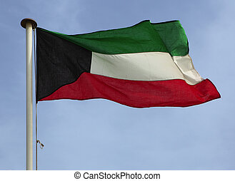 Kuwaiti national flag - The national flag of the Gulf oil...