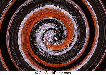 abstract spiral black - abstract of spiral black and orange...