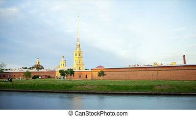The Peter and Paul Fortress. Motion Timelapse.
